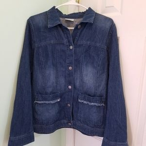 Women's size medium J.Jill denim jacket